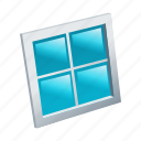 construction, glass, house, wall, window icon