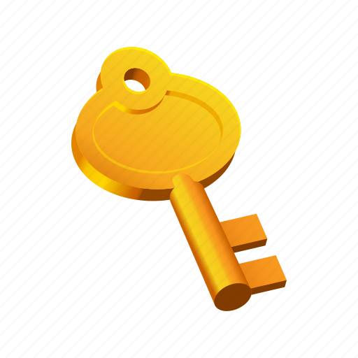 gold, key, old, tool icon
