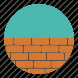 architecture, bricks, building, construction, estate, house, real icon