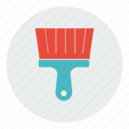 brush, construction, equipment, paint, painting, tool icon