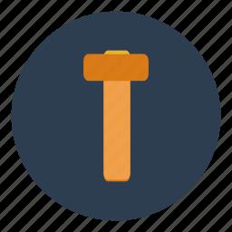 carpentry, construction, equipment, hammer, plumbing, repair, tool icon