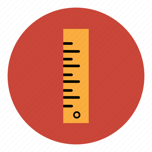 education, math, measure, measurement, ruler, scale, student icon