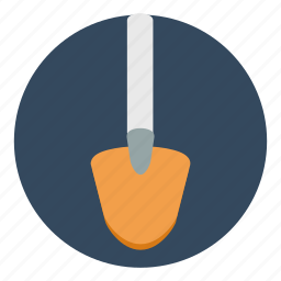 dig, equipment, gardening, masonry, mud, shovel, tool icon