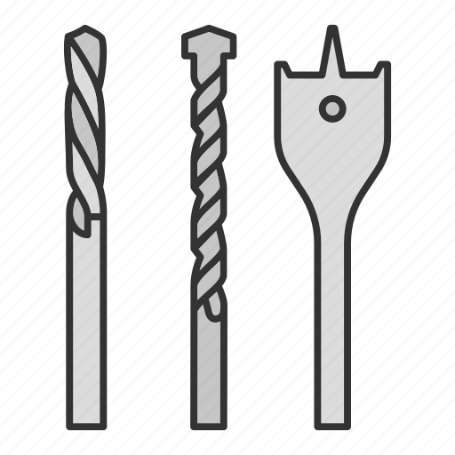 Bit, construction tool, drill, drill bits, drilling, electric, kit icon - Download on Iconfinder