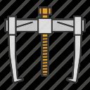 bearing, bearing puller, construction tool, puller, renovation, repair icon