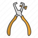 construction tool, pliers, stripper, stripping, wire, wire stripper icon