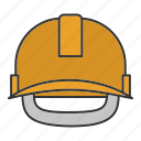 hard hat, headwear, helmet, industrial, protection, protective, safety icon