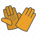 construction, gloves, handwear, protection, protective, work icon