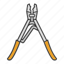 construction, crimper, crimping, pliers, repair, tongs, tool icon