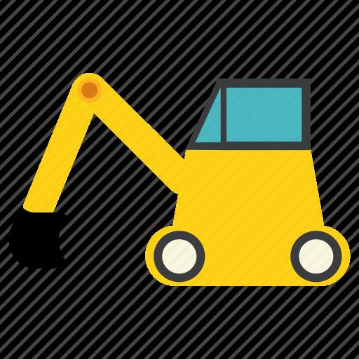 bulldozer, construction, earthmover, excavator, machine, road, vehicle icon