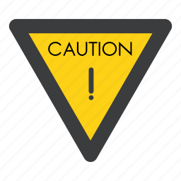 alert, attention, board, caution, exclamation, sign, warning icon