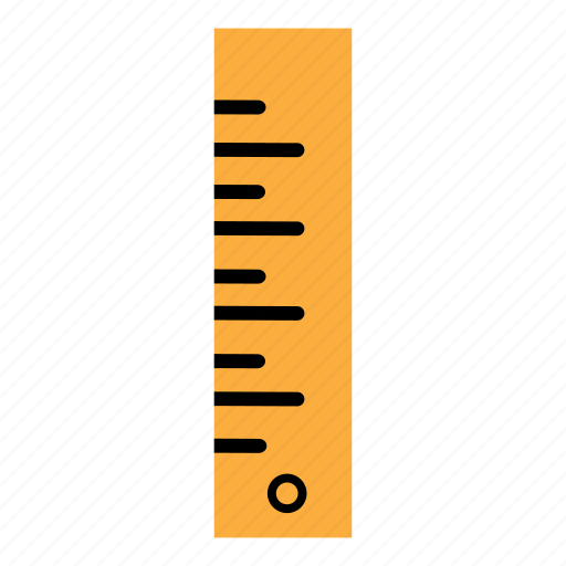 education, math, measure, measurement, ruler, school, student icon