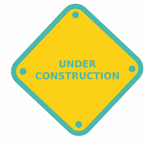 board, construction, estate, house, notice, sign, under icon