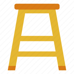 carpentry, chair, furniture, seat, sit, stool, wooden icon