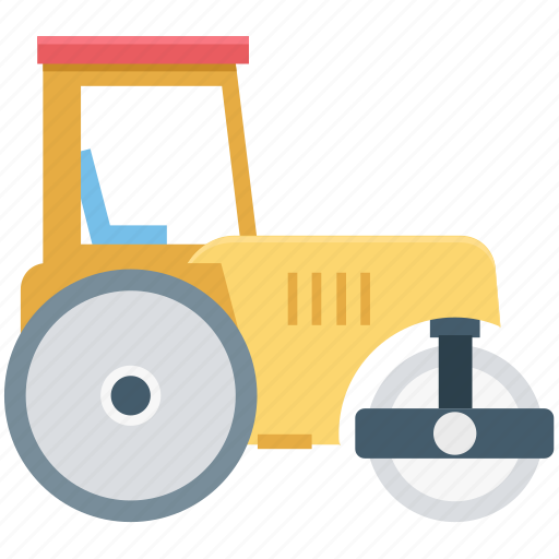 construction roller, construction roller machine, construction vehicle, road roller, roller machine icon