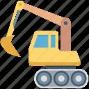 bulldozer, crane, excavator, heavy machinery, lifter