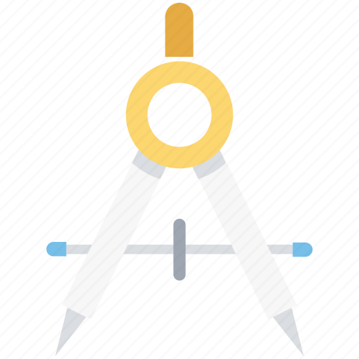 compass, divider, drawing tool, geometry, geometry tool icon