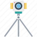 camera, camera stand, survey, survey camera, survey stand icon