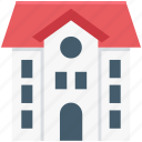 building, bungalow, farmhouse, home, institute icon