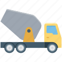construction industry, construction plant, construction transport, construction truck, construction vehicle icon