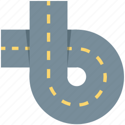 highway, oneway, road, travel, way icon