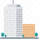 building, city building, modern building, shopping mall, under construction icon