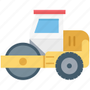 bulldozer, construction, tractor, vehicle, work