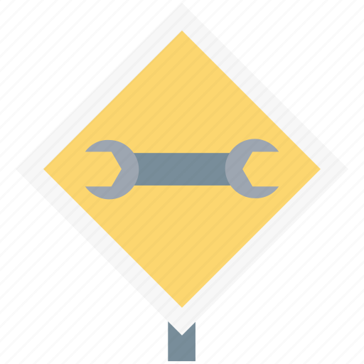 construction board, garage tool, mechanic, repair tool, signboard, spanner, wrench icon