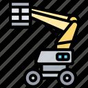 boom, lift, crane, basket, elevator