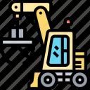 clamshell, bucket, dredger, gripper, machinery