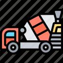 concrete, mixer, cement, truck, construction