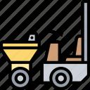 dumper, carrier, building, construction, machinery
