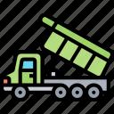 dumper, truck, carry, automobile, transportation