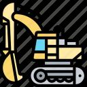 excavator, digger, backhoe, machinery, construction