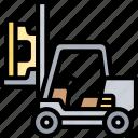 forklift, clamp, carrier, loader, warehouse