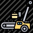 trencher, excavator, digging, ditcher, construction