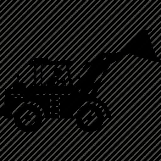 construction, loader, vehicle, wheel icon