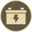 battery, energy, power icon