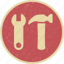 construction, settings, tool, wrench icon