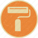 brush, paint, paintroller, roller icon