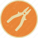 mechanic, plier, tool, work icon
