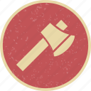 axe, cutting, hatchet, lumberjack icon