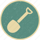 construction, garden, gardening, shovel, work icon