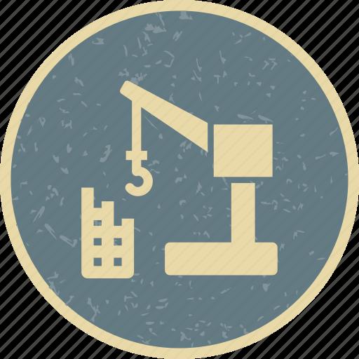 building, crane, machine icon