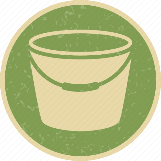 bucket, pot, water icon