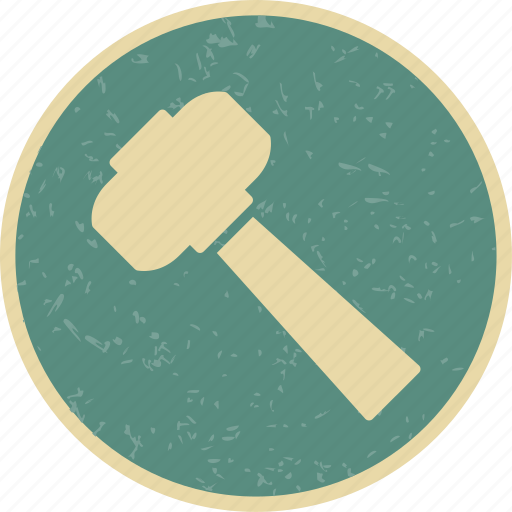 hammer, mallet, tool, work icon