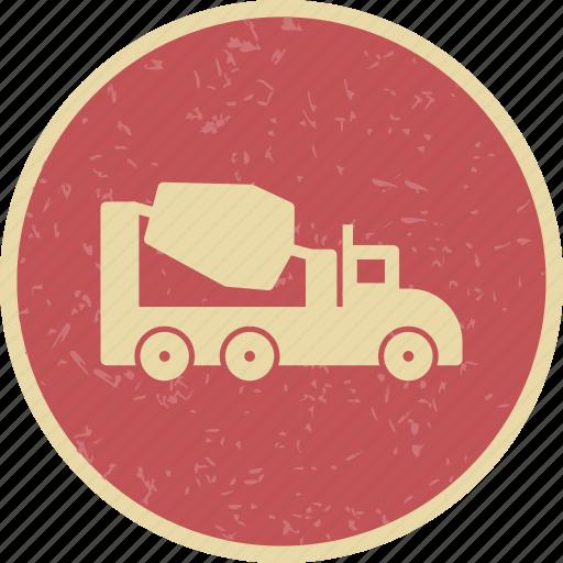 concrete, mixer, vehicle icon