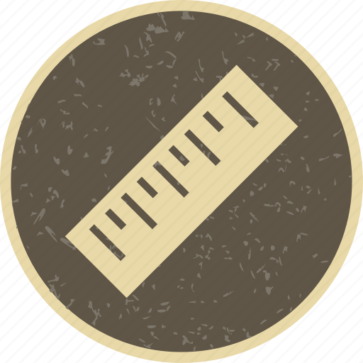 geometry, measurement, ruler icon