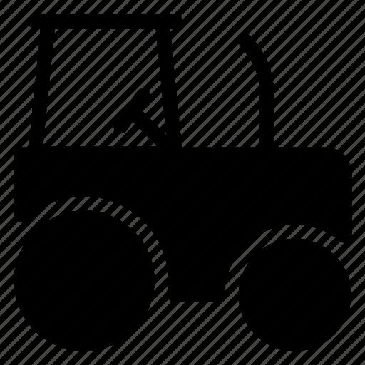 automobile, bus, crane, road roller, transport, truck icon