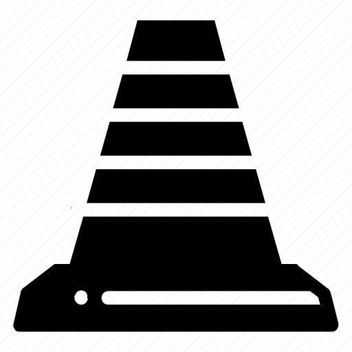 cone, construction, cup, party, road, road sign icon